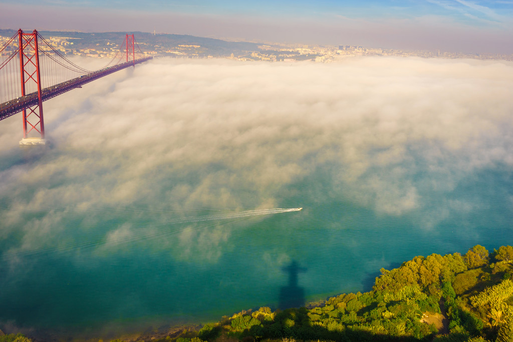 Original Lisbon 25th of April Bridge Landscape Photography 2 By Messagez com