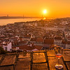 Inside The Lisbon Castle at Sunset Photography 2 By Messagez com