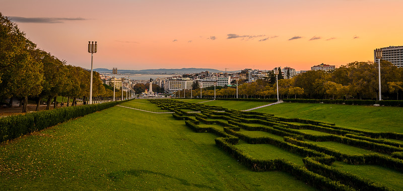 Eduardo VII Park at Sunset Photography By Messagez.com