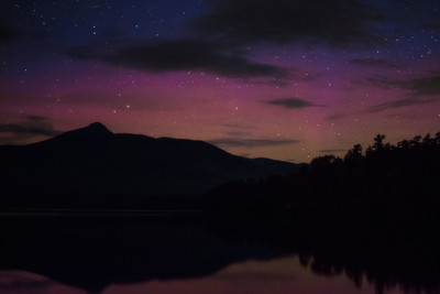 Aurora over Chocorua Lake, New Hampshire