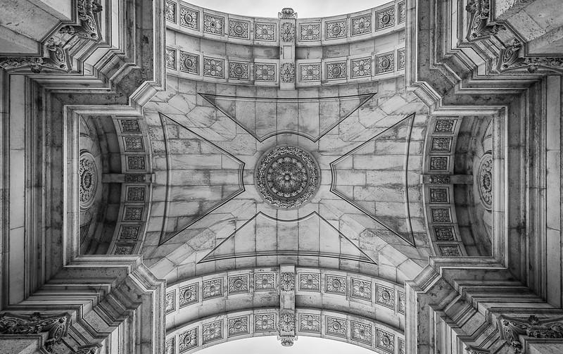 Lisbon City Center  Augusta Street Arch  Photography Messagez com