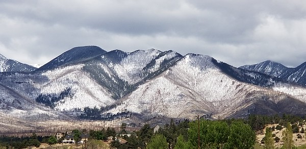 Spring snow on Flagstaff Mountains