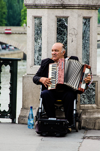 Accordionist in Paris