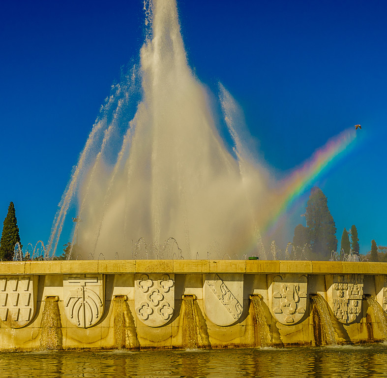 Original Lisbon Fountain Rainbow Photography 2 By Messagez com