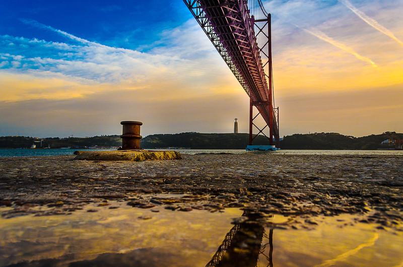 Under The Lisbon Bridge Reflection Fine Art Photography 3 By Messagez com