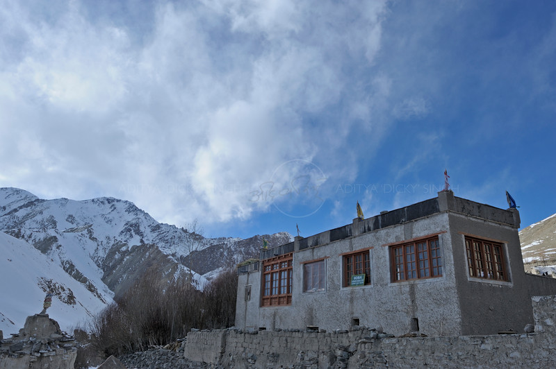 A building in Ladak during winters