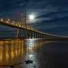 Lisbon Vasco da Gama Bridge Super Moon Photography By Messagez com