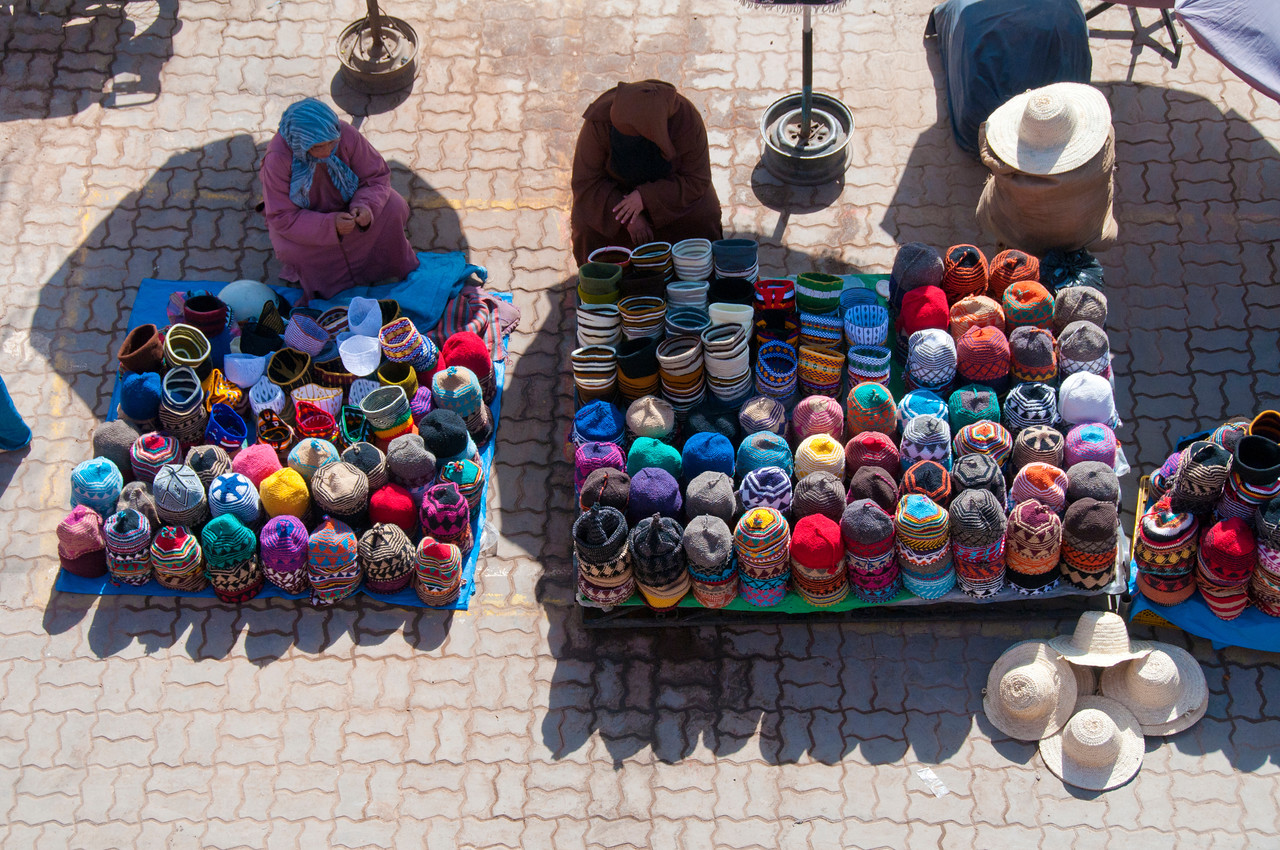 Part of the market at Rahba Qedima, Marrakesh, Morocco