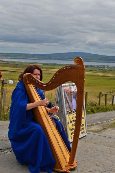 Harpist-The Cliffs of Moher, Ireland