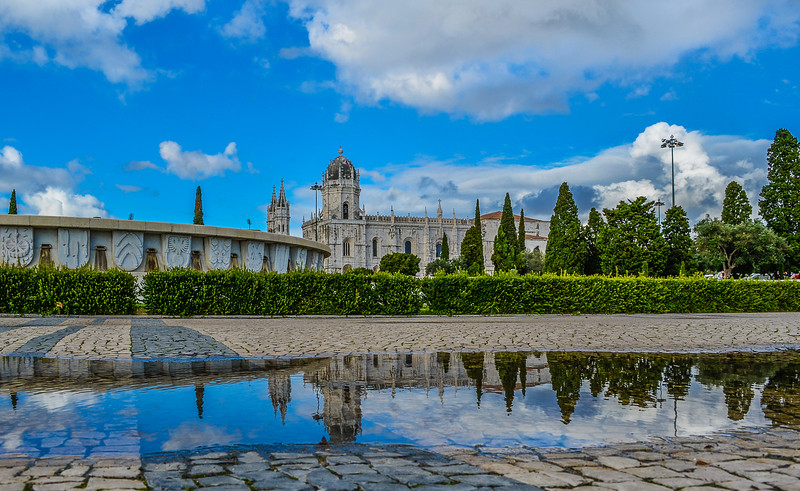 Lisbon Geronimos Monastery Reflection Photography By Messagez com