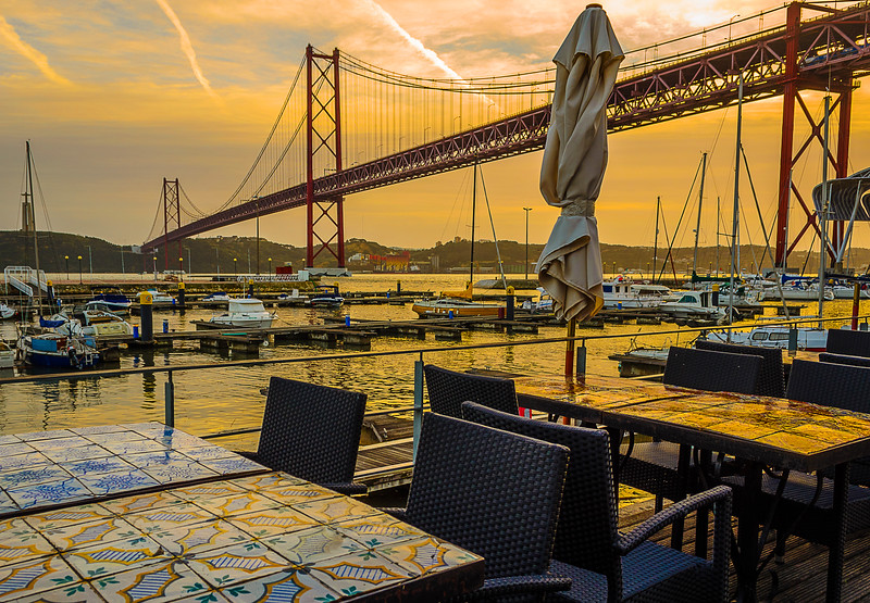 Lisbon Bridge at Sunset Fine Art Photography By Messagez com