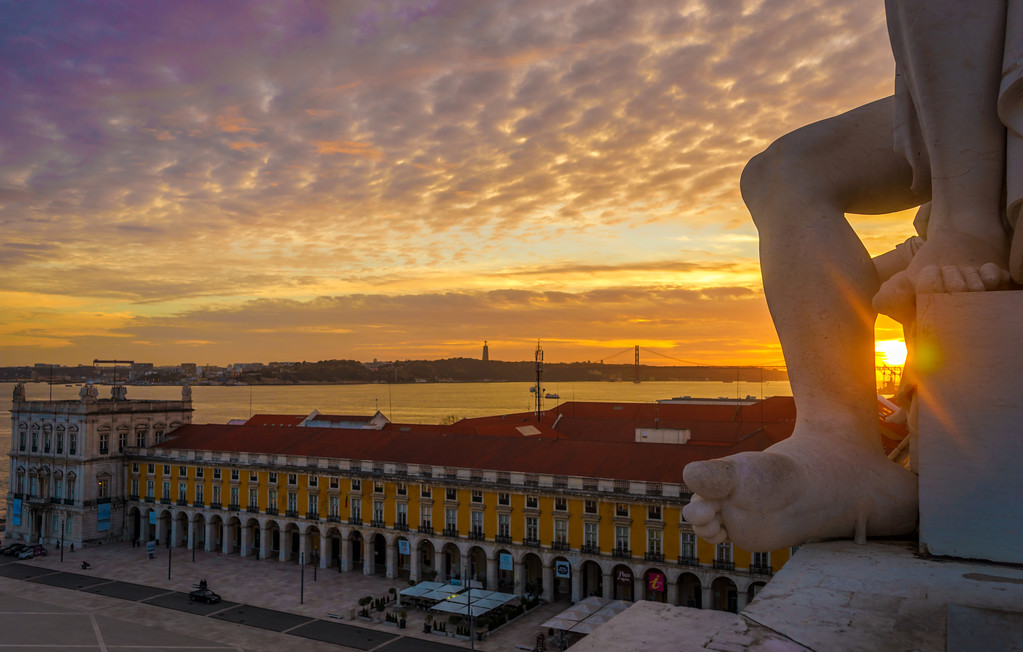 Lisbon Triumphal Arch Viewpoint Sunset Photography 25 By Messagez com