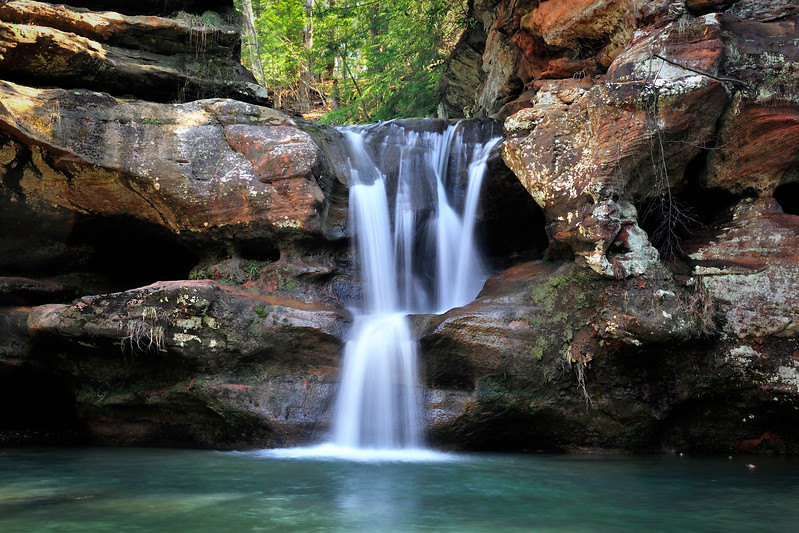 Upper Falls at Old Man's Cave, Hocking HIlls State Park, Ohio