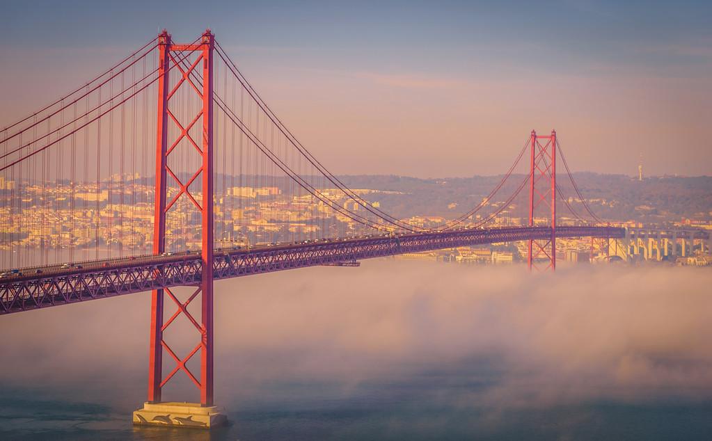 Original Lisbon 25th of April Bridge Landscape Photography 17 By Messagez com