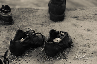 Shoes at Danube river, Budapest