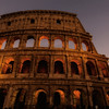 The Colosseum at sunset, Rome, Italy