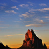Shiprock spire New Mexico at sunset