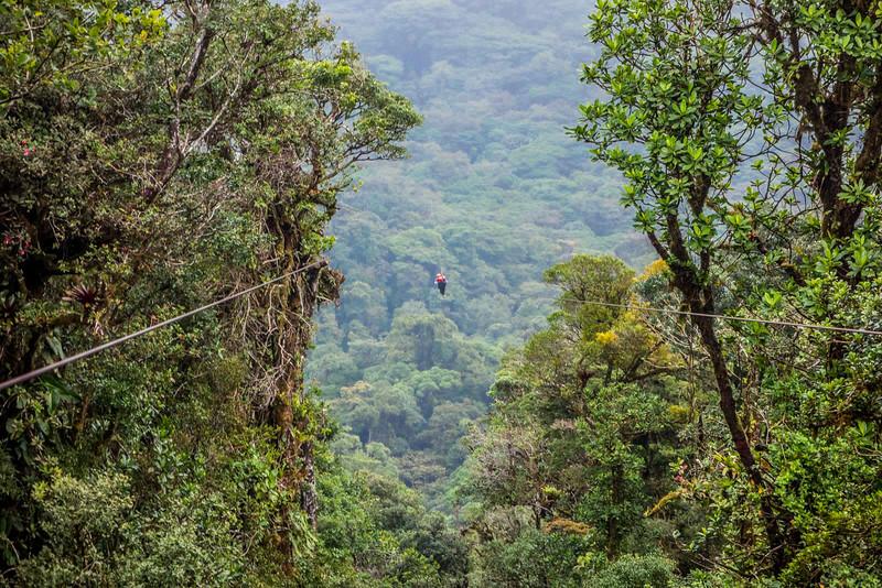 Zip-lining, Monte Verde, Costa Rica