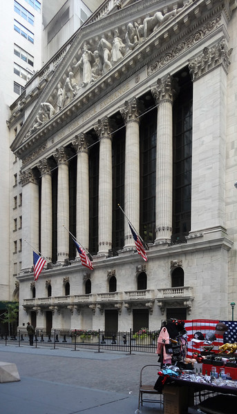 New York.  The Stock Exchange, Wall Street