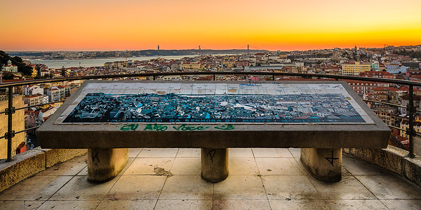 Best Lisbon Viewpoint at Sunset Photography By Messagez.com