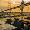 Lisbon Bridge at Sunset Fine Art Photography By Messagez com