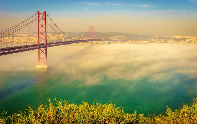 Original Lisbon 25th of April Bridge Landscape Photography 7 By Messagez com