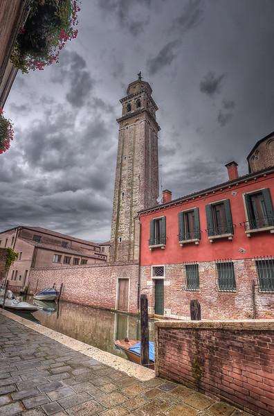 Campanile from San Sebastiano Church in the Dorsoduro district, Venice, Italy