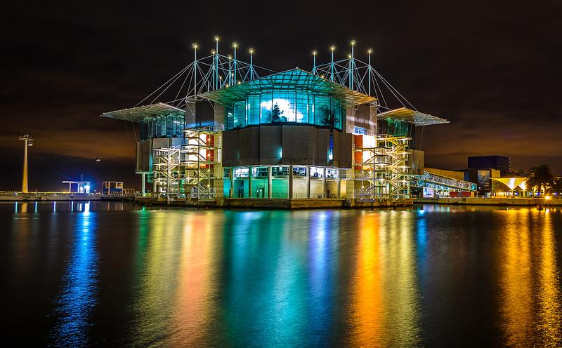 Lisbon Oceanarium at Night Photography By Messagez.com