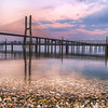 Lisbon Pink Sunset Vasco da Gama Bridge By Messagez.com