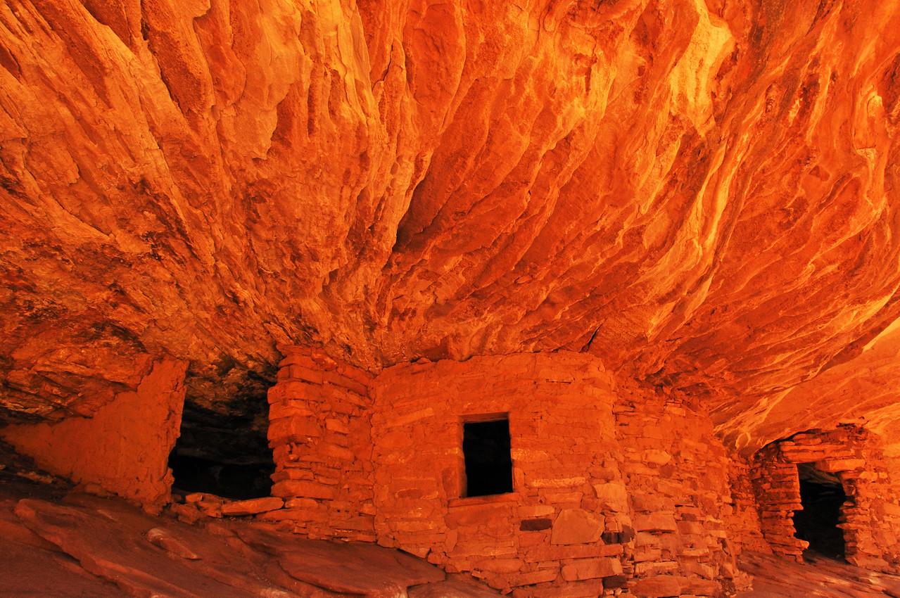 """Fire House"" ruin in Mule canyon Utah"