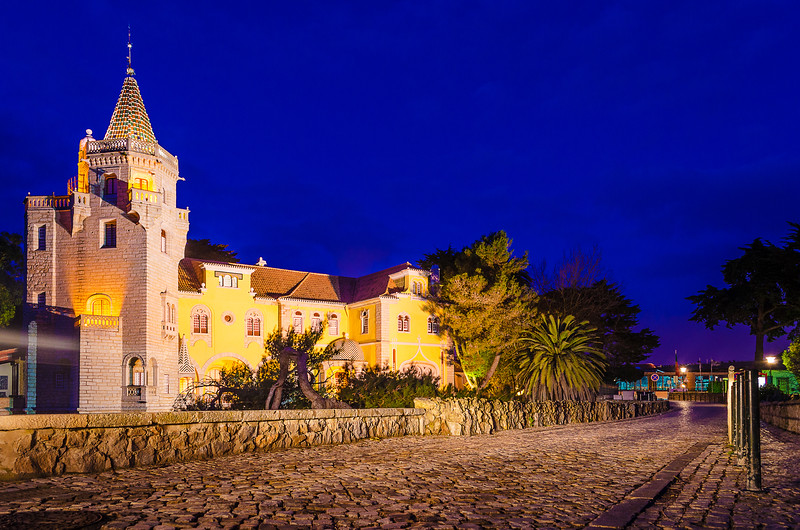 The Mystic Portugal Cascais Castle at Night Photography By Messagez com