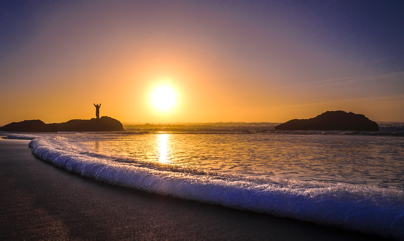 Portugal Guincho Beach at Sunset Photography By Messagez com