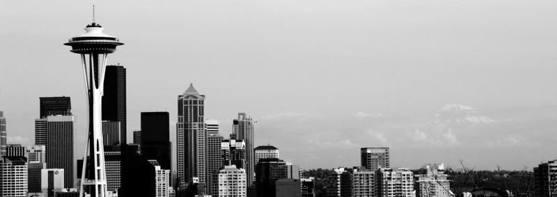 Seattle, WA: Skyline with Mt. Rainier.