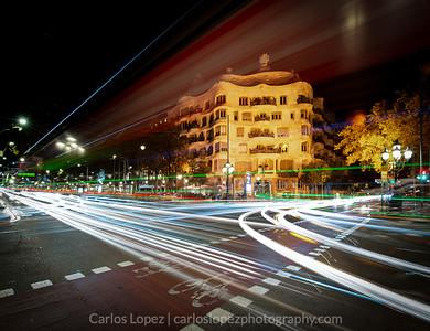 La Pedrera at night #2