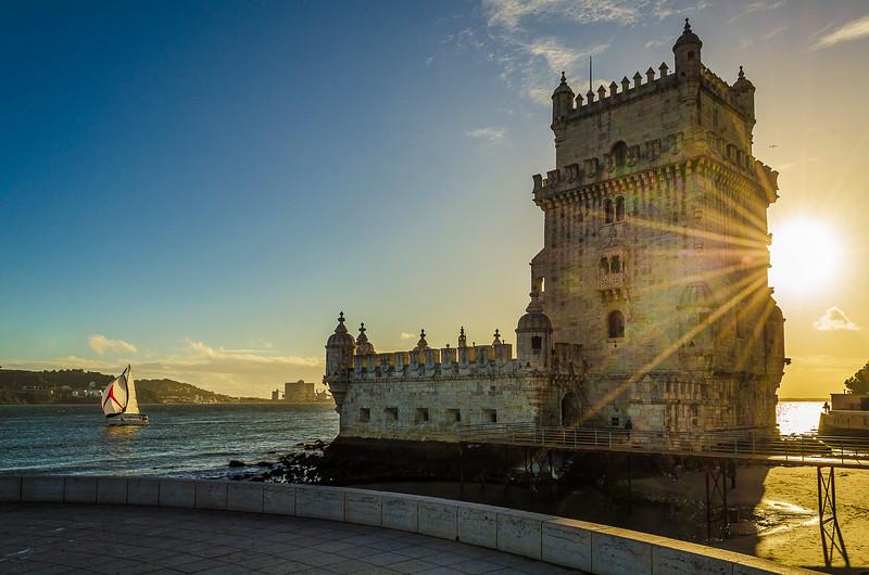 Original Portugal Lisbon Tower sunshine Art Photography 4 by Messagez com