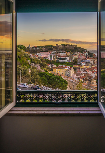 Original Window to The Lisbon Castle Photography By Messagez com