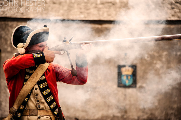 Soldier at Fort Niagara