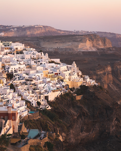 Fira at sunset.