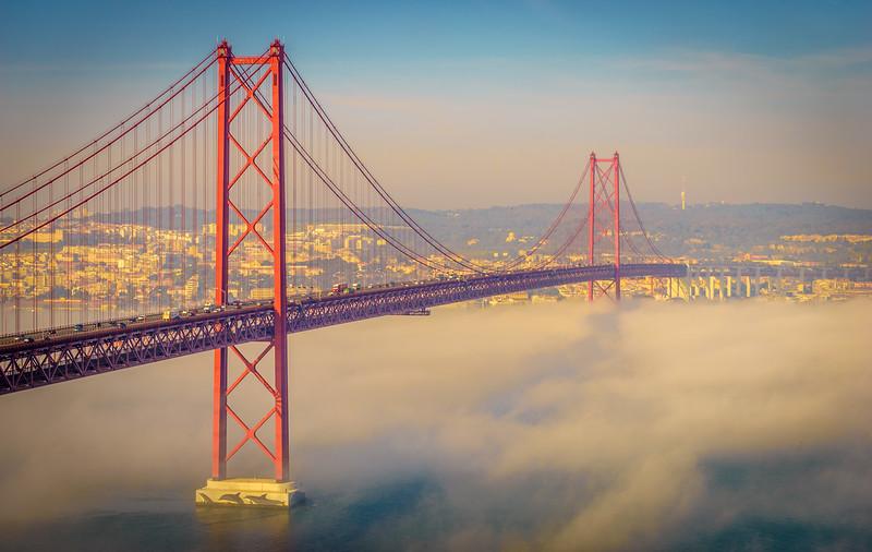 Original Lisbon 25th of April Bridge Landscape Photography 14 By Messagez com
