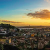 Original Lisbon Viewpoint Panorama at Sunset Photography By Messagez com