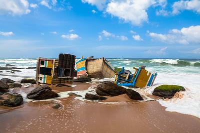 Ship Wreck Sri Lanka