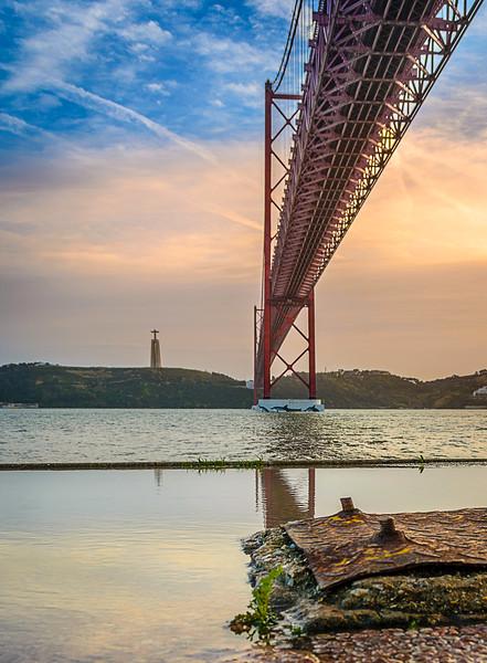 Under The Lisbon Bridge Reflection Fine Art Photography 4 By Messagez com
