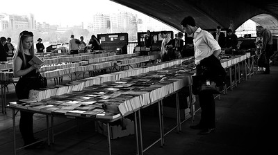 Book stalls on the Southbank, London, England