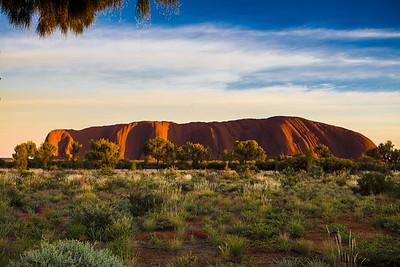 Sunrise at Uluru Northern Territory Australia