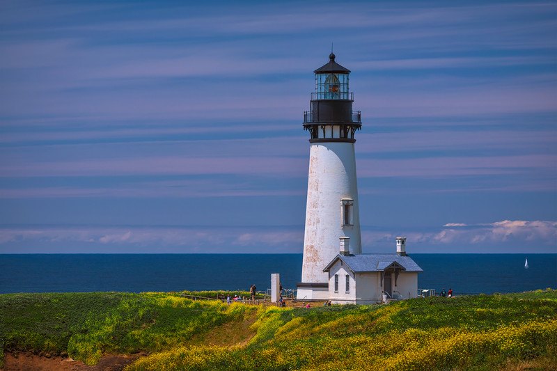 Yaquina Head Lighthouse near Newport, Oregon