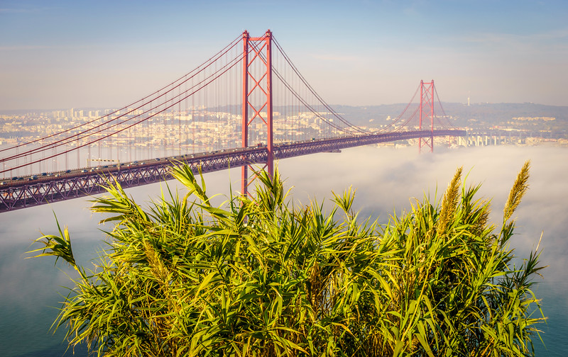 Original Lisbon 25th of April Bridge Landscape Photography 15 By Messagez com
