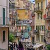 Street scene in Manarola, Cinque Terre, Italy