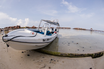 Boat on Mabul Island