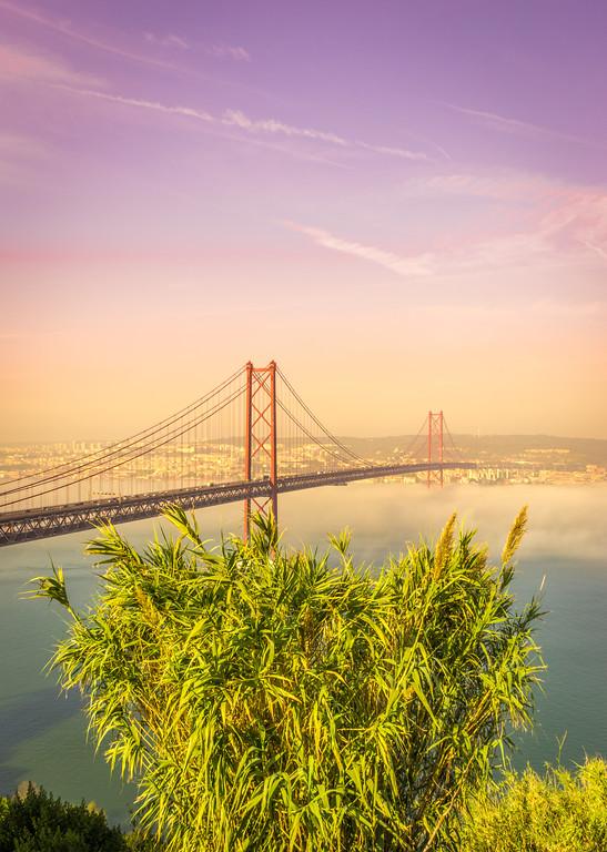Original Lisbon 25th of April Bridge Landscape Photography 19 By Messagez com
