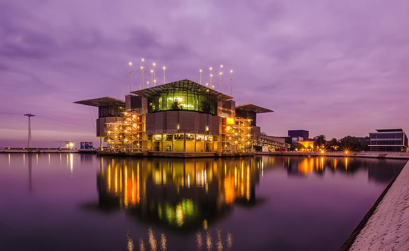 Original Lisbon Oceanarium at Sunset Photography By Messagez com